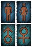 Mężczyzna kobiet symbol odizolowywający Fotografia Stock