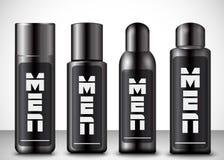 Mężczyzna kosmetyka butelki ilustracja wektor