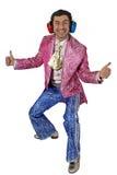 mężczyzna kostiumowa ekspresyjna scena zdjęcie royalty free