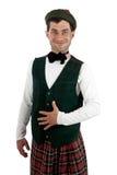 mężczyzna kostiumowy ekspresyjny scottish fotografia stock