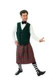 mężczyzna kostiumowy ekspresyjny scottish zdjęcia royalty free