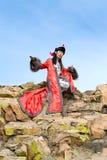 mężczyzna kostiumowy mongolian obraz royalty free