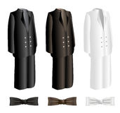 Mężczyzna kostiumy i krawata set Obrazy Royalty Free