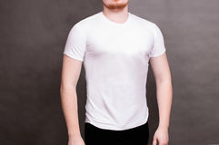mężczyzna koszula t biel zdjęcie stock