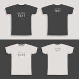Mężczyzna koszulki projekta szablon Zdjęcia Royalty Free