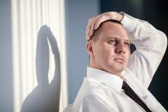 mężczyzna koszulowy krawata biel Zdjęcie Stock