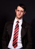 mężczyzna koszulowy krawata biel obraz royalty free