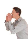 Mężczyzna krzyczeć Zdjęcie Royalty Free