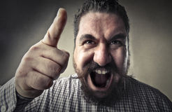 Mężczyzna krzyczeć zdjęcia stock