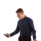 Mężczyzna krzyczy przy telefonem Zdjęcie Royalty Free