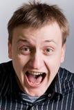 mężczyzna krzyki Zdjęcie Royalty Free