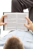 mężczyzna książkowy czytanie fotografia royalty free