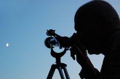 mężczyzna księżyc Zdjęcia Royalty Free