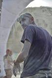 Mężczyzna który jest członelem personelu koloru bieg Rimini Obraz Royalty Free
