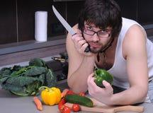 mężczyzna kuchenni potomstwa Obrazy Stock