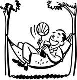 Mężczyzna Lounging W hamaku ilustracji