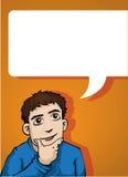Mężczyzna mówienie Zdjęcia Stock