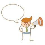 Mężczyzna mówienie na megafonie Zdjęcie Royalty Free