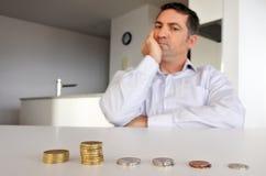 Mężczyzna ma pieniężnych problemy Obraz Stock