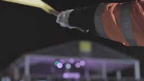 Mężczyzna Macha W kratkę rasy flagę zdjęcie wideo