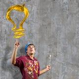 Mężczyzna malarz Fotografia Stock