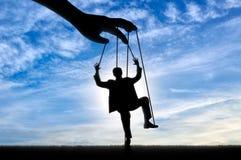 Mężczyzna marionetka Manipulaci pojęcie Zdjęcia Royalty Free