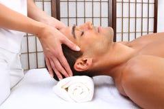 Mężczyzna masaż Obrazy Royalty Free