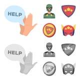 Mężczyzna, maska, peleryna i inna sieci ikona w kreskówce, monochromu styl Kostium, nadczłowiek, superforce, ikony w ustalonej ko ilustracja wektor