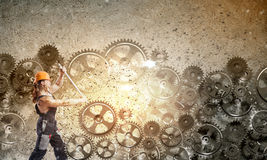 Mężczyzna mechanik Fotografia Royalty Free