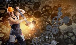 Mężczyzna mechanik Obrazy Royalty Free