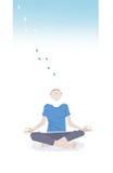 Mężczyzna medytuje ilustrację Obrazy Royalty Free