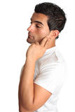 mężczyzna melancholii główkowanie Fotografia Stock