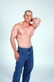 mężczyzna mięśniowy dojrzały zdjęcie royalty free