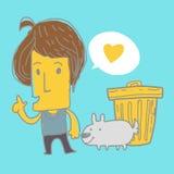 Mężczyzna miłości pies ilustracji