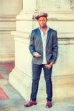 Mężczyzna Miastowa moda na ulicie w Nowy Jork Fotografia Royalty Free