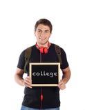 Mężczyzna mienia chalkboard z Fotografia Stock