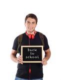 Mężczyzna mienia chalkboard z Obraz Stock