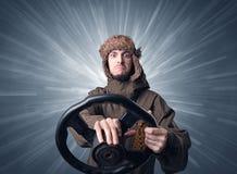 Mężczyzna mienia kierownica Zdjęcia Royalty Free