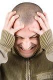 mężczyzna migrena Obrazy Royalty Free