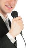 mężczyzna mikrofon Fotografia Stock