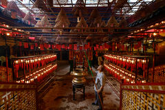 Mężczyzna Mo świątynia Hong Kong Zdjęcia Royalty Free