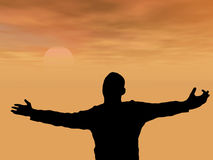 mężczyzna modlenie Zdjęcia Royalty Free