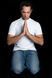 mężczyzna modlenie Zdjęcia Stock