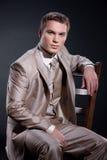mężczyzna modny kostium Zdjęcia Royalty Free
