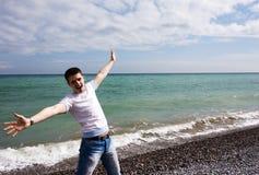 mężczyzna morza potomstwa Fotografia Stock