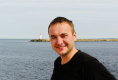 mężczyzna morza potomstwa Obraz Royalty Free