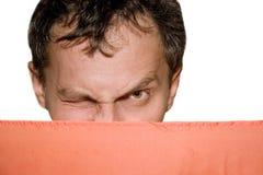 mężczyzna mrugać target849_1_ target850_0_ Fotografia Stock