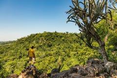 Mężczyzna na górze w Paraguay Zdjęcie Royalty Free