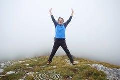 Mężczyzna na Grobnicke Alpe Zdjęcia Royalty Free