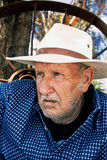 Mężczyzna na gruntowym Australia Obraz Royalty Free